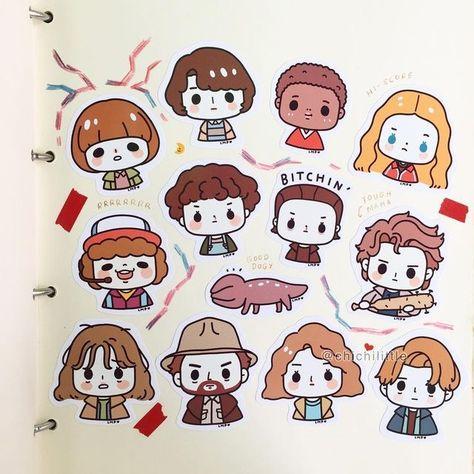 Stranger Things Chibi Drawings Stranger Things Sticker