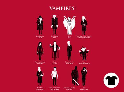 Vampire Identification Chart by Ben Douglass