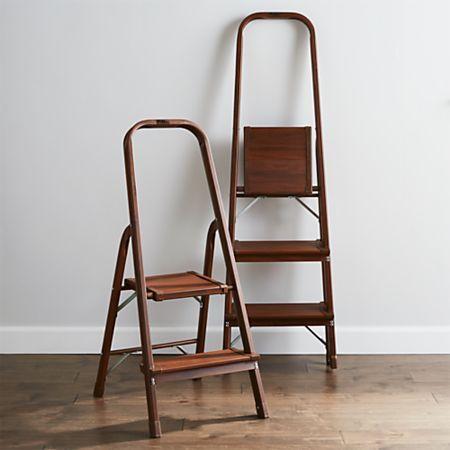 Admirable Polder 3 Step Walnut Step Stool Closet Step Ladder In 2019 Machost Co Dining Chair Design Ideas Machostcouk