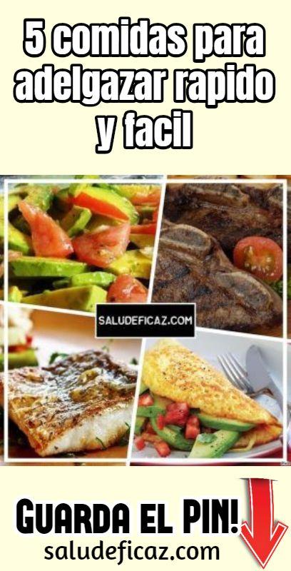 5 comidas para bajar de peso