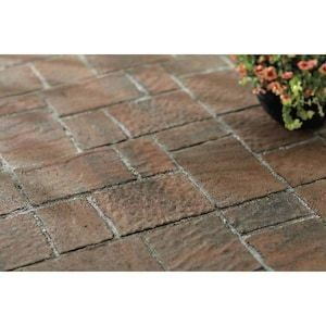 Four Cobble Allegheny Concrete Patio Stone Common 16 In X 16 In Actual 15 7 In X 15 7 In Lowes Com 1000 In 2020 Patio Stones Concrete Patio Garden Bed Layout
