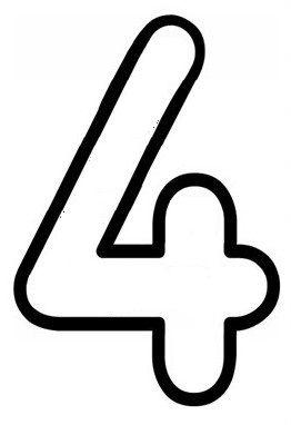 4 Rakami Okul Oncesi Calisma Cizelgeleri Anaokulu Matematigi