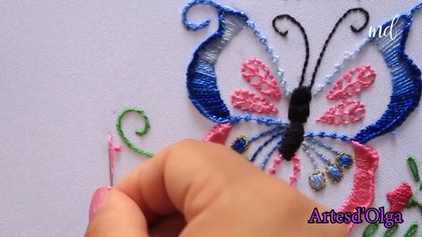 Embroider the best butterfly you ever saw with this video