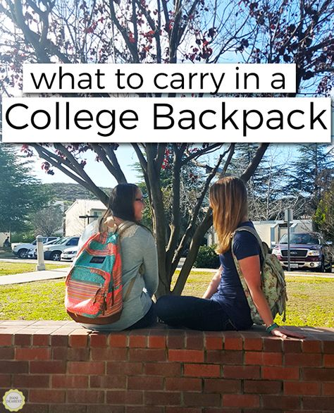 What to Carry in a College Backpack