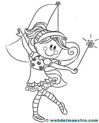 Dibujos De Hadas Para Colorear Web Del Maestro Dibujos De Hadas Hadas Dibujos