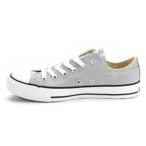 Light grey converse Only worn twice! Very good condition and go great with any outfit! Size 6 in women and a size 4 in men. Converse Shoes Sneakers