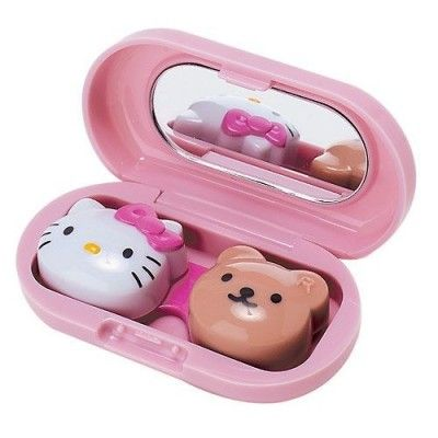 adorable hello kitty contact case!