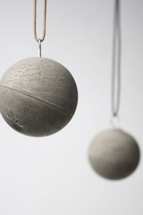 Hanging spheres of concrete