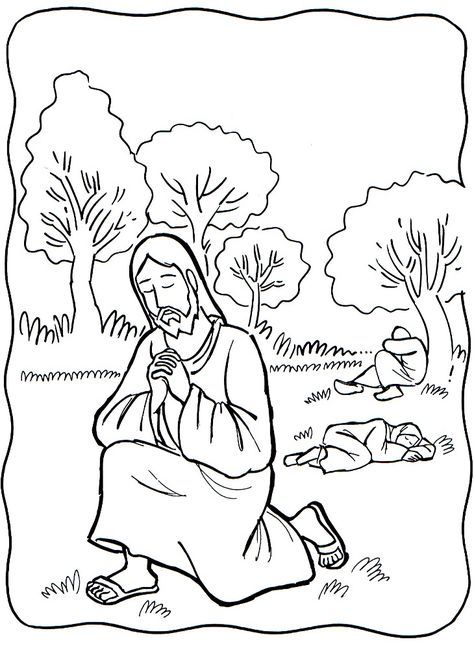 50++ Jesus praying in the garden coloring page HD