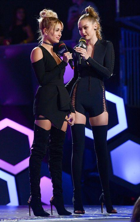 Gigi Hadid and Hailey Baldwin Wore Twinning Thigh-High Boots Last Night