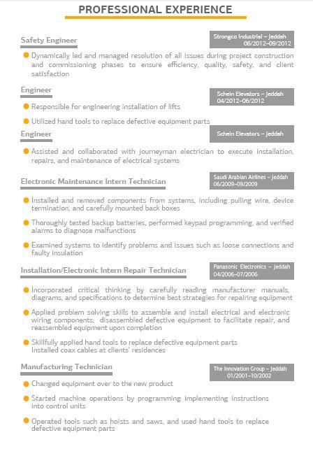 Professional Resume (presume0304) on Pinterest - mechanical engineering resume template