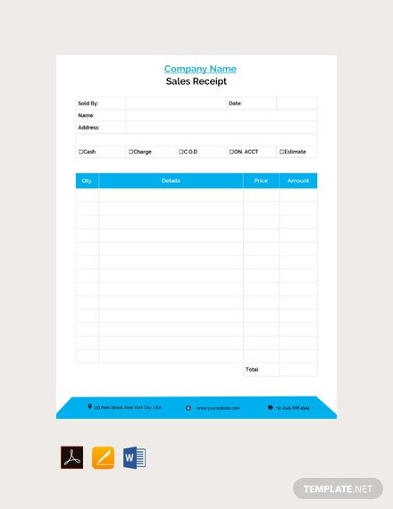 Sales Receipt Template Free Pdf Word Apple Pages Receipt Template Free Receipt Template Templates