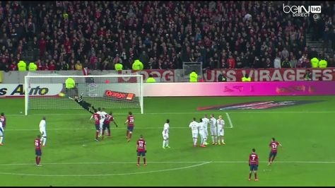 Rony Lopes (Lille) powerful freekick vs Reims (1-0)