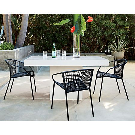 Fuze Ivory White Stone Dining Table In 2020 Discount Outdoor