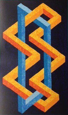 Simplified 3D Patterns | 3D Quilts | Quilt patterns, Optical