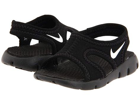 199ac02840bf6 Nike Kids Sunray 9 (Infant/Toddler) Boys Shoes Black/White ...