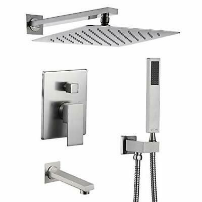Sponsored Link Esnbia Shower System With Tub Spout Shower Faucet Set With 10 Inch Rain Shower H In 2020 Shower Faucet Sets Shower Faucet Shower Systems