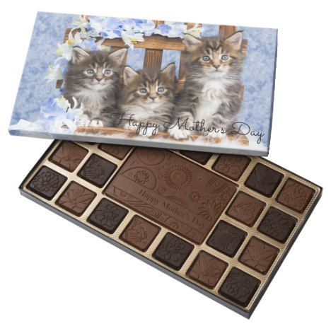 Mother S Day Cute Kittens Boxed Chocolates Mothersday Chocolates Treats Yummy With Images Cute Mothers Day Gifts Candy Gifts Kittens Cutest
