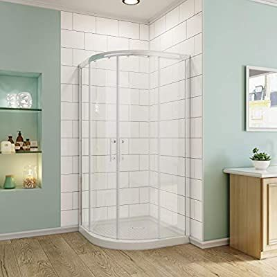 Sunny Shower Corner Shower Doors Neo Round Shower Enclosure With 1 4 Inch Clear Sliding G In 2020 Corner Shower Enclosures Shower Enclosure Frameless Shower Enclosures