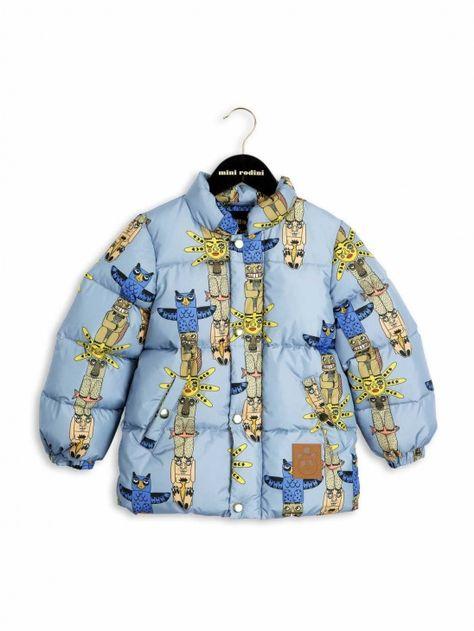 Mini Rodini AW16 Puffa Totem Jacket Blue   Babykläder