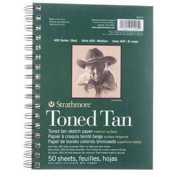 Toned Tan Strathmore 400 Series Sketch Paper Pad 5 1 2 X 8 1 2
