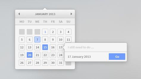 Minimal Calendar Widget Free Psd Free Calendar Template