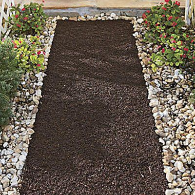 Recycled Rubber Reversible Mulch Pathway Mulch Landscaping Landscape Edging Landscaping With Rocks