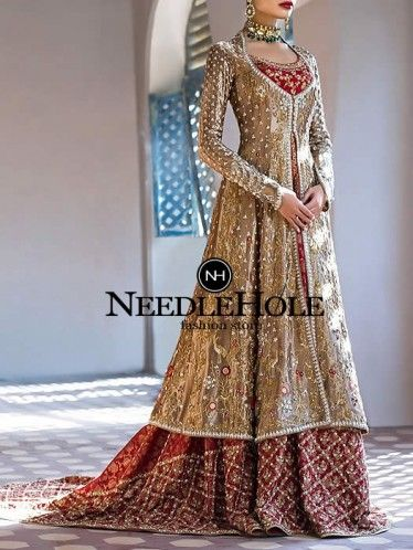 Red And Gold Bridal Lehenga Dress For Brides Http Www Needlehole