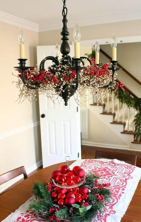 25 Simple Christmas Decorating Ideas Christmas Chandelier Decor
