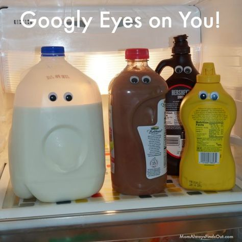 17 April Fools Day Pranks to Play on Your Kids - Prank - Prank meme - - April Fools Day Pranks Googly Eyes in the Fridge! Joke for Kids (this is really easy and fun!) The post 17 April Fools Day Pranks to Play on Your Kids appeared first on Gag Dad. Easy Pranks For Kids, Kids April Fools Pranks, April Fools Day Jokes, Best April Fools, Funny Jokes For Kids, Kids Pranks, Fun Pranks, Camp Pranks, Pranks For Coworkers