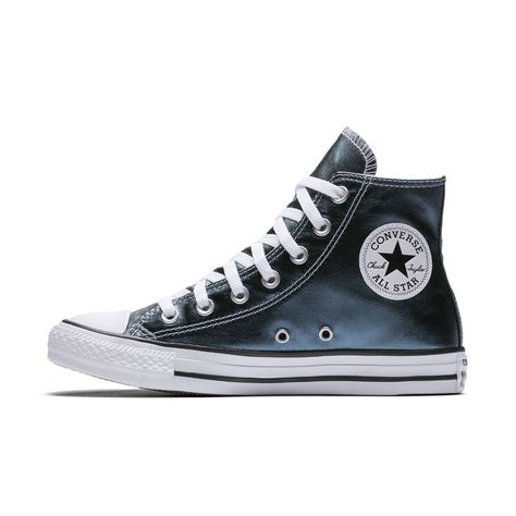 665a6046ef2f Converse Chuck Taylor All Star Metallic Canvas High Top Women s Shoe Size  9.5 (Blue) - Clearance Sale