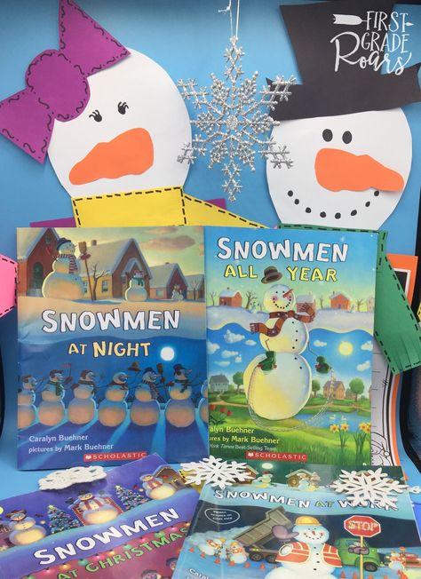 Snowmen At Christmas.Snowmen At Night At Work At Christmas All Year