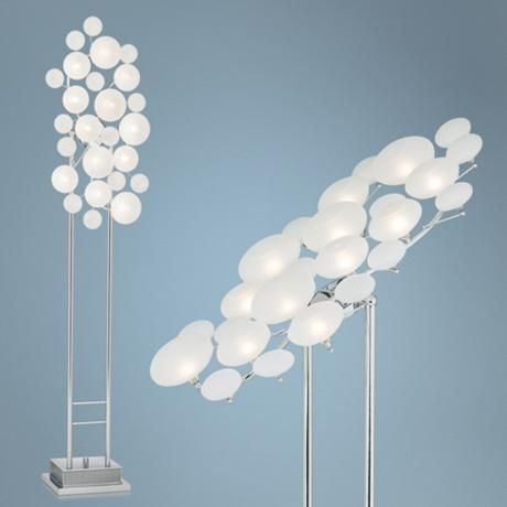 Possini Euro Design Etched Glass Lilypad Floor Lamp | Lamps | Pinterest | Floor  Lamp, Euro And Glass