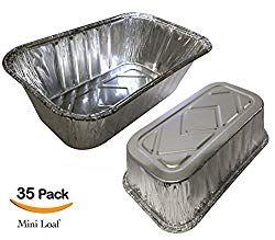 35 Pack 1lb Sturdy Mini Loaf Pans Aluminum Pans Bread Pans