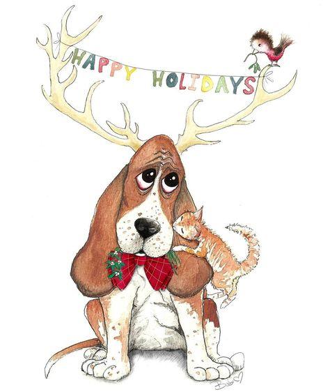 mistletoe Mistletoe Kisses Holiday Card...