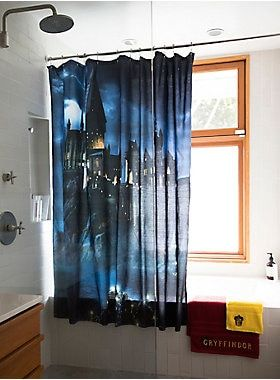 Harry Potter Hogwarts Shower Curtain Boxlunch Exclusive Harry