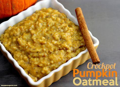 Crockpot Pumpkin Oatmeal Recipe - Wanna Bite