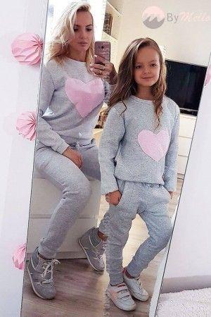 Zestaw Mama I Corka Fashion Style Two Piece Pant Set