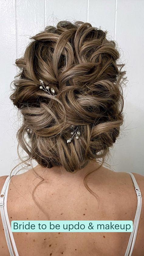 Bride to be updo & makeup