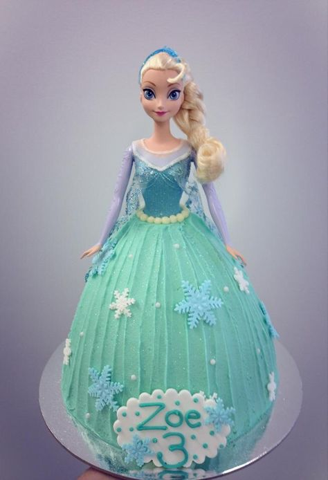 Frozen, Elsa, Dolly Varden cake