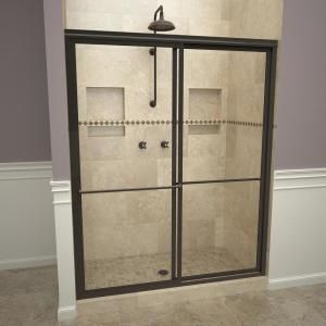 Redi Slide 2000v Series 60 In W X 71 1 4 In H Semi Frameless Sliding Shower Doors In Polished Chrome With Towel Bar 20vcplb06071 The Home Depot In 2020 Tub Doors Bathtub Doors