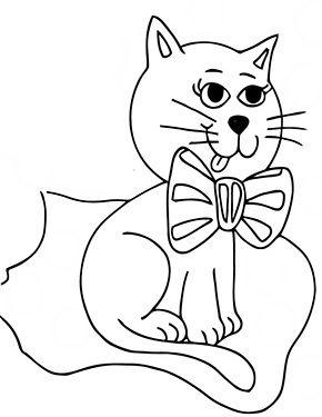 Ausmalbild Katze Sitzt Auf Decke Zum Ausmalen Ausmalbilder Malvorlagen Katze Ausmalbilderkatze Ki In 2020 Ausmalbilder Katzen Susse Katzen Bilder Katzen