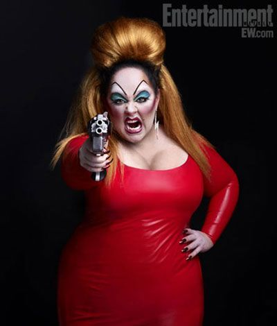 LADY IN RED: Melissa McCarthy as cinema drag queen Divine. The original hairspray divine