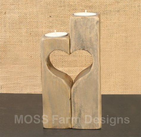 Rustic Heart Linked Family Candle Holders Wedding Gift Etsy