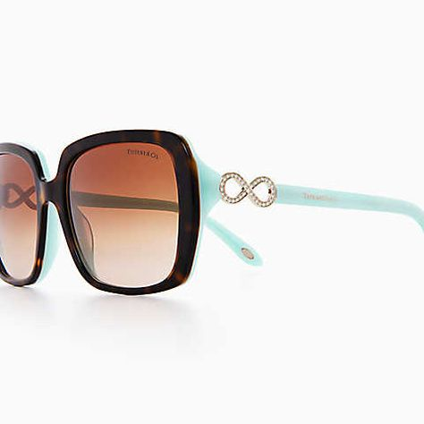 a21bb4cc02d Tiffany Infinity square sunglasses in tortoise and Tiffany Blue® acetate.