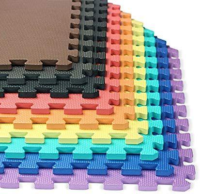 Amazon Com We Sell Mats 1 2 Inch Multi Purpose Green 24 Sq Ft 6 Tiles Sports Outdoors Foam Mat Flooring Foam Mats Interlocking Foam Mats