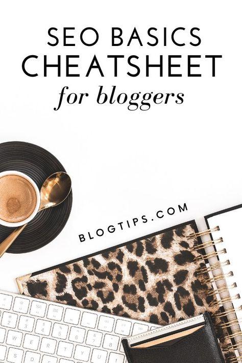 15 SEO Basics - Free Cheatsheet For Bloggers