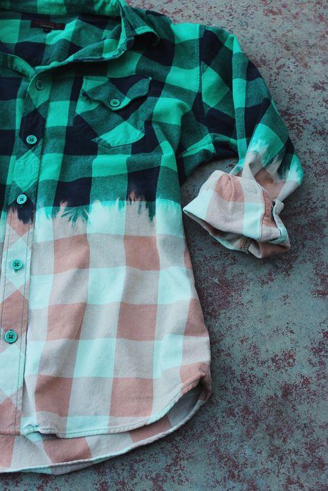 DIY Bleached Men's Flannel