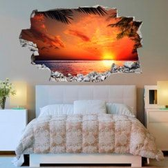3D Wall Sticker Sea & Sunset