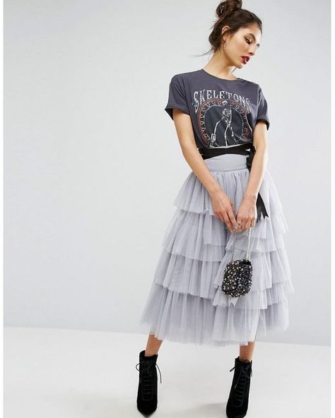 Shop ASOS tulle midi prom skirt with tiers and tie waist. With a variety of delivery, payment and return options available, shopping with ASOS is easy and secure. Shop with ASOS today.